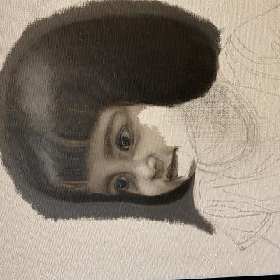 Girl Grisaille